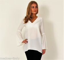 Womens Boho Blouse Shirts Tops Ladies Long Sleeve Casual  John Zack UK
