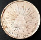 1902 MEXICO A.M.  SECOND REPUBLIC Peso KM# 409.2 SILVER Very Nice Details!