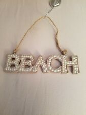 NEW BEACH RESIN PLAQUE ORNAMENT MIDWEST CBK