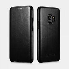 Samsung S9 Plus Black Case Leather Luxury Curved Edge Serie Vintage