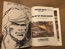 Bernard Prince eerste druk de val met 100.000 Spiesen met dedicace tekening Dany