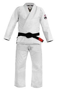 New Fuji Lightweight Light Summer Weight Mens Brazilian Gi Jiu-Jitsu BJJ - White