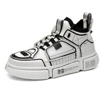 Mens Womens Retro Boots Casual Clunky Shoes Sports Sneakers Trainers Black White