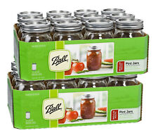 24 Ball Mason Regular Mouth Pint 500ml Jars Canning Storage Weddings Food Grade