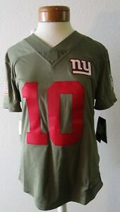 NWT Nike Eli Manning New York Giants Womens STS Limited Jersey L Olive MSRP$160