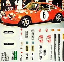 PORSCHE 911S RMC VINCITORE 1970 #6 Waldegaard Helmer 1:43 DECALCOMANIA