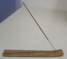 """10"""" Wooden Incense Burner / Ash Catcher (Assorted Designs, Wood, Brown)"""