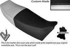 BLACK & WHITE CUSTOM FITS YAMAHA FZ 750 85-91 GENESIS LEATHER SEAT COVER