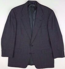 BURBERRYS Suit 42R Houndstooth 2 BUTTON Wool USA Mens SIZE Gray BLACK Sz MICRO**