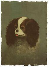 1890 Cavalier,  Blenheim Cavalier King Charles Spaniel blank note card
