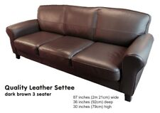 Brown Leather IKEA, three seater, Sofa, Settee, good, condition, comfortable