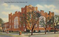 Anderson Indiana 1940s Postcard Park Place Church of God