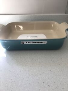 LE CREUSET Caribbean blue Rectangular Baking Dish 32cm x 24cm x 5.5cm