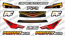 CUSTOM RC BODY HEADLIGHT GRILL STICKER DECAL SET PROTOFORM P47-N 1/10 RED YELLOW