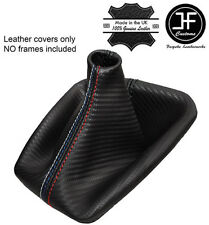 BLACK STITCH CARBON FIBRE LOOK GEAR GAITER FITS BMW E36 E46 91-05 M /// STITCH