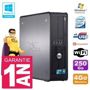 PC DELL 780 SFF Intel E8400 RAM 4Go Disk 250Go DVD Burner Wifi W7