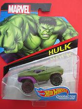 "HOT WHEELS MARVEL CHARACTER CARS ''HULK"" MONSTROUS OFF-ROAD TRUCK NEW!"