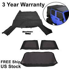 For 2007 2009 Jeep Wrangler 4 Door Replacement Black Soft Top Tinted Windows Fits Wrangler