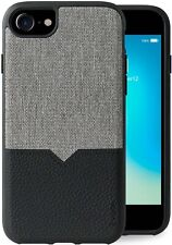 Evutec iPhone 8/7/6s/6 Canvas/Black Leather, Fabric Protection Case & Free Mount