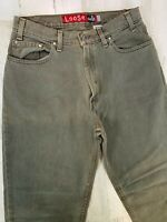 Vintage Levis Silvertab Loose Jeans 33x34 Greenish Gray Made in USA