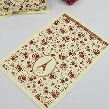 50pcs Elegant Eiffle Tower Pattern Handmade Bakery Packaging Bags Party Favors
