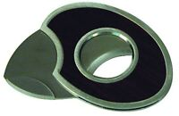 Quality Importers Trading Round Steel and Wood Cigar Cutter