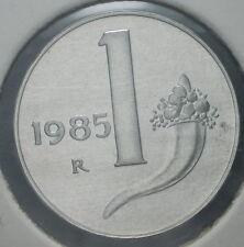1985   Repubblica Italiana   1 lira  FONDO SPECCHIO  da divisionale