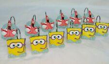 Nickelodeon Set of (12) Spongebob Squarepants Shower Curtain Hook Rings 2005