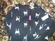 Old Navy Black Cat Hoodie Silver Cats Girls Size 14 XL Sweatshirt New Retired