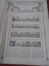 L'ART POUR TOUS ENCYCLOPEDIE DE L'ART INDUSTRIEL ET DECORATIF 1862 (ref 58)