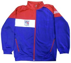 New York Rangers NHL Boys Full Zip Synthetic Tricot Track Jacket Youth Sizes