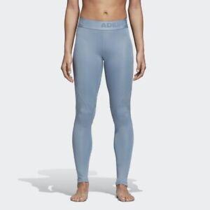 Adidas Women's Blue Climacool Alphaskin Compression Training Tights CZ1529
