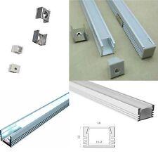 5 x 1 Mt profilo barra alluminio 16x12mm per striscia strip led con cover