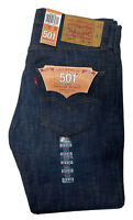 NWT Levi's 501 Jeans Mens 32 X 30 Dark Indigo Rigid Blue Denim Straight Button