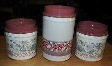 VTG Lot Of (3) Aladdin Holiday/Christmas Thermal Insulated Hot/Cold Mugs/Cups