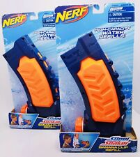 (2) Nerf Super Soaker Banana Water Refill Clips Gun Toy High Capacity