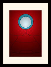 Avengers Assemble Marvel Iron Man Busto incorniciato & STAMPA MONTATA