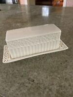 Covered Butter Dish Cream Lace By Godinger & Co