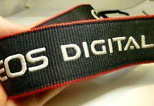 Canon EOS Black Red Camera Neck Strap Genuine 4cm wide embroidered 80D 90D T7i