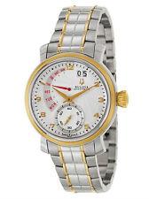 Swiss Made Bulova Accutron 65C107 Amerigo Two-Tone SS Silver Dial Men's Watch