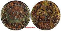 Mexico-Revolutionary PUEBLA Copper 1915 2 Centavos Restrikes UNC KM# 759
