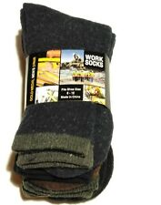 Gold Medal Mens Work Socks 3 Pair Fits Shoe Sz 6-12 Brand New With Tags Packaged