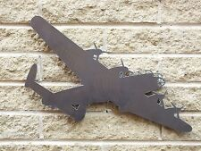 Lancaster Bomb Silhouette in Mild Steel, for Weather vanes or Features in Gates
