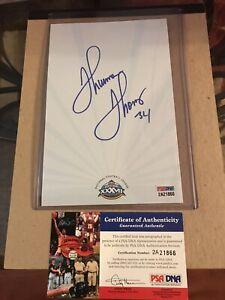 Thurman Thomas signed  Super Bowl 37 Notepad Paper Buffalo Bills PSA COA