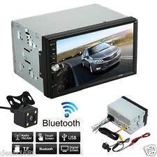 "Bluetooth 7"" Double 2DIN In Dash Car Stereo Movie MP5 USB SD FM Radio HD Camera"