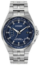 Citizen Eco-Drive Men's A-T World Time Blue Dial 42mm Watch CB0160-51L