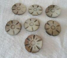Vintage Lot 7 Carved MOP Flower Buttons Metal Shank Mother of Pearl