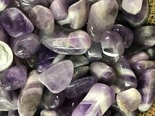 500 Carat Lots of Polished Tumbled Banded Amethyst + Free Faceted Gemstone