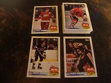 1990-91 Topps Hockey---Team Scoring Leaders---Complete Set 1-21---NrMt
