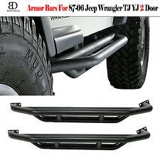 Side Steps For 1987-2006 Jeep Wrangler YJ TJ 2 Doors Armor Bar Guard Nerf Rocker